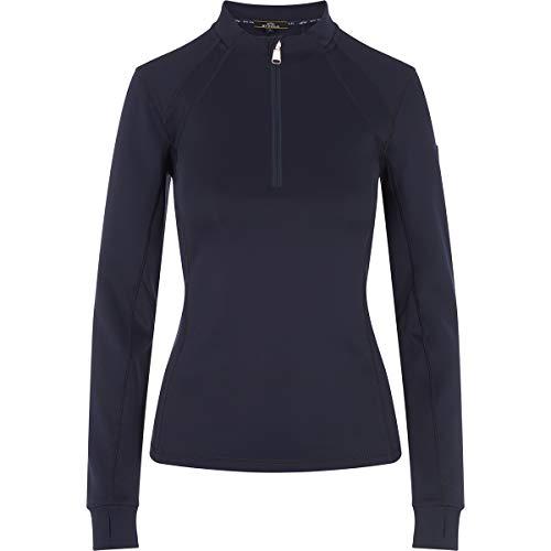 HV Polo Langarm-Shirt Nikki halber Reißverschluss (Navy, L)