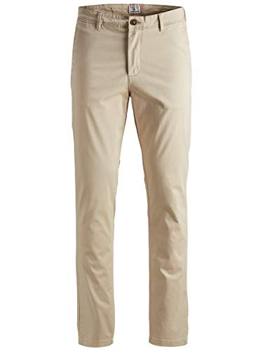 JACK & JONES Herren Chino Slim Fit 3432White Pepper