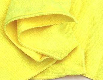 S&S 10x Microfasertücher Gelb 30x30 cm │ Fusselfrei │ saugstarke Haushaltshilfen │ Allzwecktuch