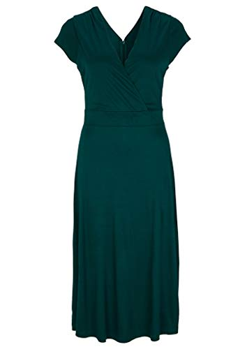 s.Oliver BLACK LABEL Damen 150.10.005.20.200.2040537 Kleid, Dark Green, 42