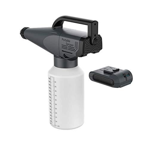 LTAYZ 1.8L Pulverizador electrostático Recargable, 2200Ah Pistola de pulverización eléctrica con batería, nebulizador inalámbrico portátil de Alta Capacidad de para desinfección