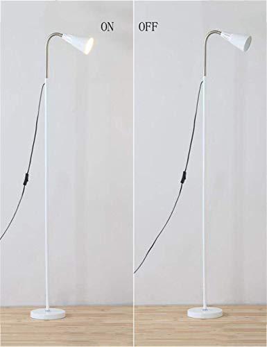 YUQIYU Simple de pie luminarias de Protección de los ojos del hierro creativo moderno de noche de pie luminarias for el bulbo de la sala incluido, C (Color : B)