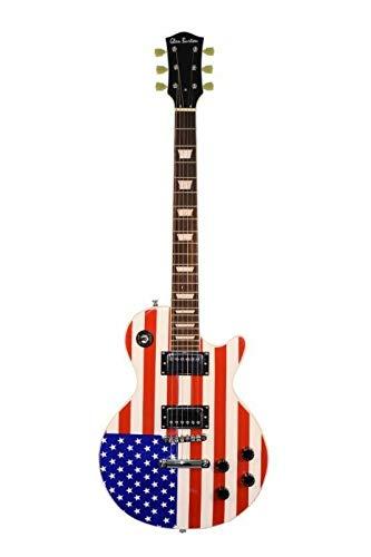 Cheap Patriotic American Flag Electric Guitar LP Style Red White & Blue Glen Burton Black Friday & Cyber Monday 2019