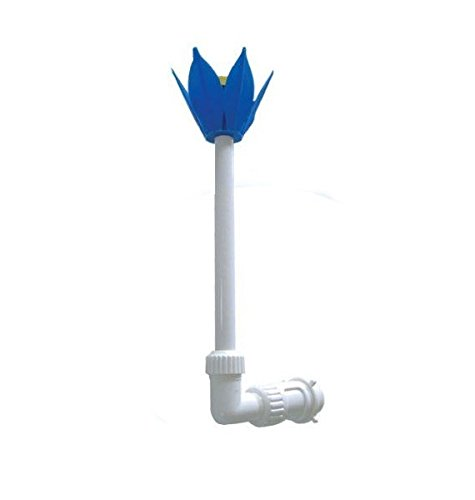 1.5' Adjustable Blue and Yellow Flower Fountain for Swimming Pool and Spa