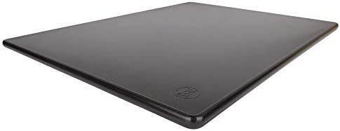 Commercial Black Plastic Cutting Board Large 20x15 Inch NSF product image