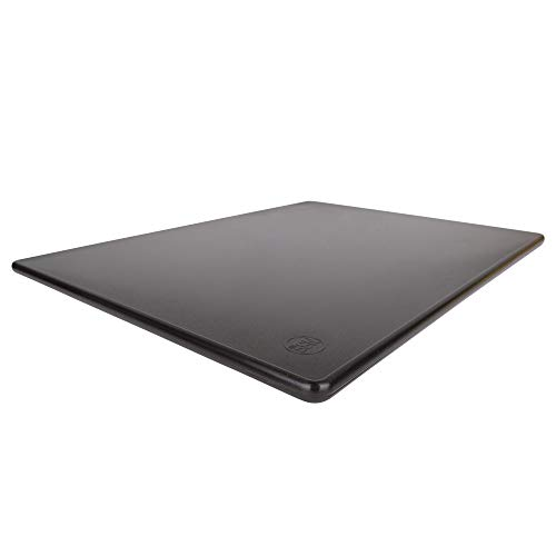 Commercial Black Plastic Cutting Board, Large 20x15 Inch, NSF