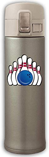 Edelstahlbecher Bowling Pins Go Bouncing Cover Isolierung Saugnapf Flasche Thermosbecher Natural