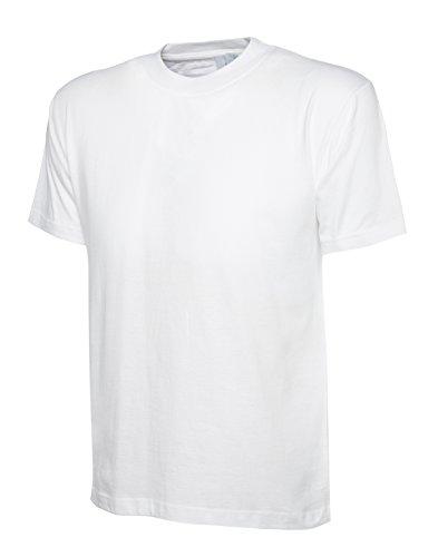 Homme Premium 100% Coton Uni T-Shirt haut Loisirs Sports Vêtement de travail UC302 - Blanc, L