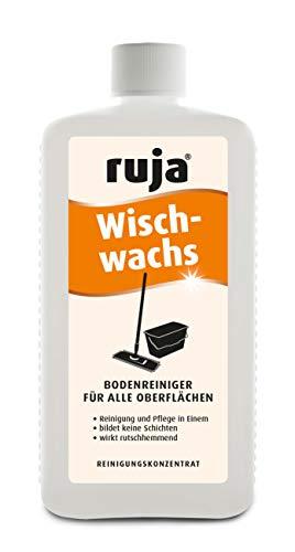 ruja Wischwachs 1 Liter | Wischpflege zur Anwendung auf Parkett, Laminat, PVC, Linoleum und Steinböden | Reinigt, pflegt und schützt