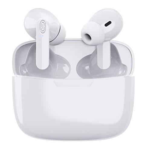 Auricular Bluetooth 5.1, Auriculares inalámbricos Bluetooth, micrófono y Caja de Carga incorporados, reducción del Ruido estéreo 3D HD, para iPhone/Android/Apple Airpods Pro/Samsung/Huawei