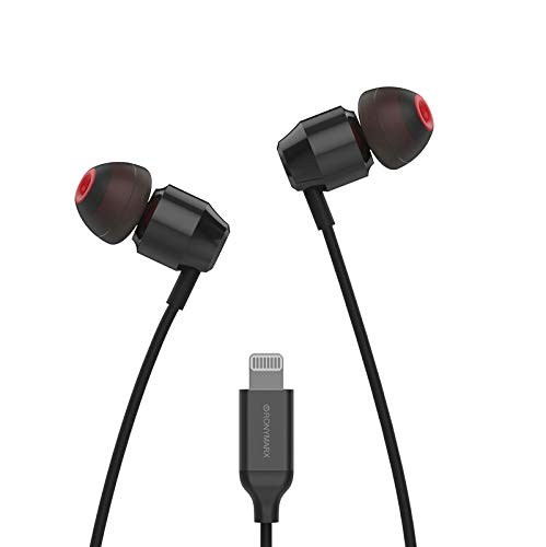 Apple MFi Certified Lightning Earbuds Headphones Earphones - with Microphone and Compact Controller Made for iPhone 11/11 Pro Max/iPhone X/XR/XS Max iPhone 8/P iPhone 7/P in-Ear (Black)