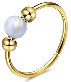 White Opal Cartilage Earring and Nose Hoop Earrings I 14k Gold Filled Helix Hoop Earring I 20 Gauge Wire Thickness Handmade Piercing I 8mm Hoop Diameter Earrings for Women