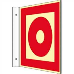 Vaandelplaat Brandmelder handmatig HIGHLIGHT PVC 14,8 x 14,8 cm met 2 gaten à 3 mm Ø Lichtdichtheid: HIGHLIGHT 48 mcd/m2