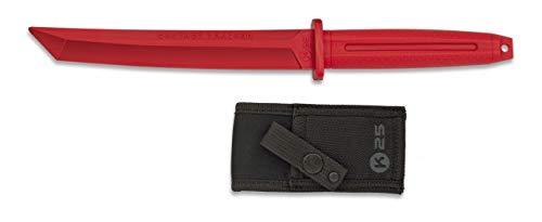 K25-32413 - Cuchillo de Goma para Entrenamiento K25. Rojo. - Herramienta para Caza, Pesca, Camping, Outdoor, Supervivencia y Bushcraft