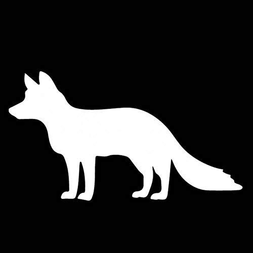 WAYDQT 15.7 Cm * 8.8 Cm Patrón De Decoración De Zorro Etiqueta Engomada del Coche Calcomanía De Vinilo Accesorios del Maletero del Coche Plata
