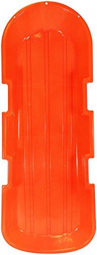 ESP 48' Day Glow Sno-Twin Toboggan – Two-Rider Sled – Tough Polyresin, Diamond-Polished Bottom – Neon Orange 1143