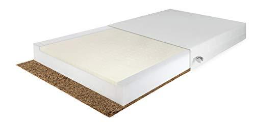 Babymatratze 120x60 Kokos Kaltschaum Latex Atmungsaktiv Waschbarer Bezug Höhe 9cm Matratze für Babybett Kinderbett