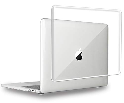 MacBook Pro 13 inch Case 2020 2019 2018 2017 2016 Release A2289 A2251 A2159 A1989 A1706 A1708, UESWILL Crystal Clear Glossy Hard Case for MacBook Pro 13 inch, 2/4 Thunderbolt 3 Ports (USB-C), Clear