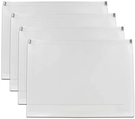 Clear Letter Size Zip Accommodates SEAL limited product Document Envelope OFFicial