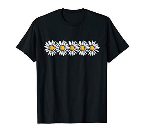 Gänseblümchen-Entwurfs-Art-Weinlese | Blumen Daisy Flower T-Shirt