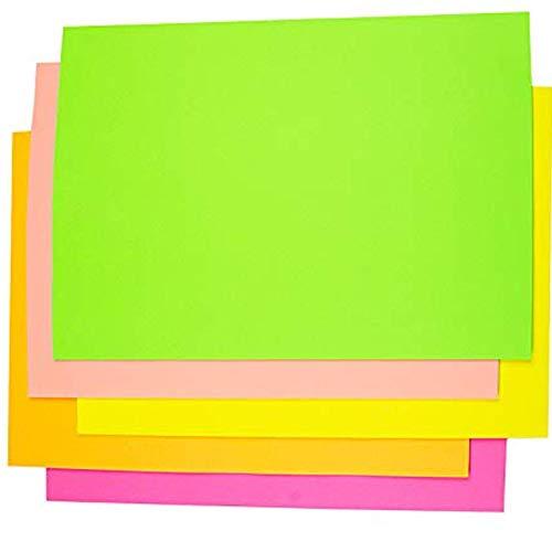 Origami - Papel fluorescente (100 hojas, tamaño A4), color brillante