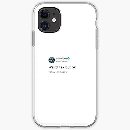 Weird Tweet Flex Dave Humour Grime But Twitter Vine Santan Ok Fundas para teléfono Pure Clear TPU para iPhone Samsung Xiaomi Redmi Note 10 Pro/Note 9/Poco M3 Pro/Note 8/Poco X3 Pro Funda