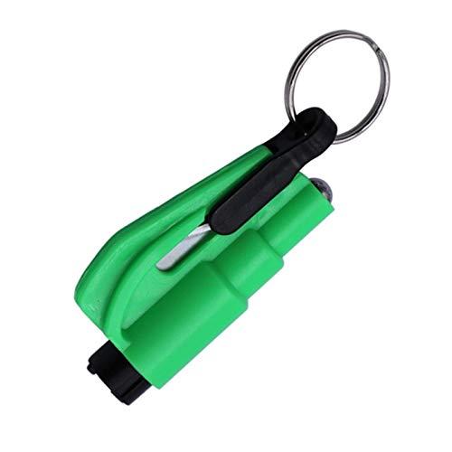 LIANYG Car Safety Hammer Spring Type Escape Hammer Window Breaker Punch Seat Belt Cutter Hammer Key Chain