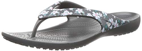 Crocs Women Kadee Tropical Floral/Slate Grey Flip-Flops-5 UK (205635-98G)