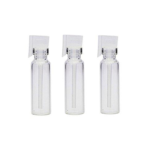 Wilotick Lot de 20 mini-fioles pour échantillons de parfums - En verre transparent, rechargeable, pour les liquides cosmétiques, les huiles essentielles d'aromathérapie, le parfum, 2ml