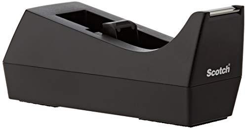 Scotch C38 - Dispensador de Cinta Adhesiva (25 x 19 mm), Color Negro