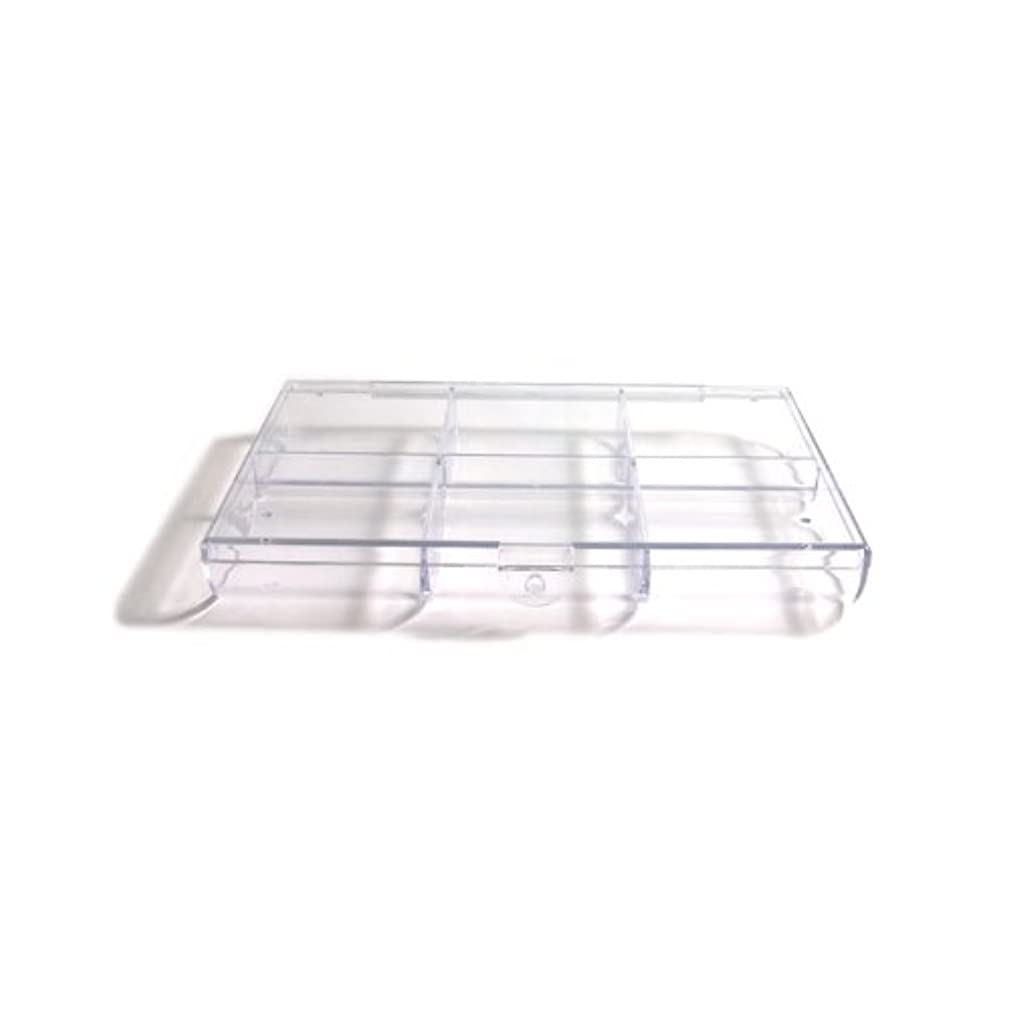 Shipwreck Beads Plastic Bead Storage Box with Round Bottom and 6 Spaces, 5 by 7-Inch, Clear, 2-Pack