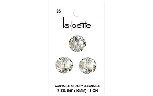 LaPetite Botones de cristal de vástago de 5/8 pulgadas, 3 unidades
