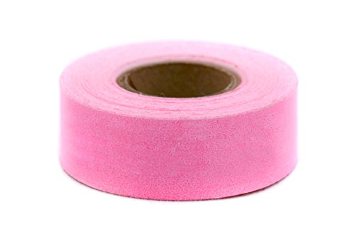ChromaLabel 1 Inch Clean Remove Color-Code Tape, 500 Inch Roll, Fluorescent Pink