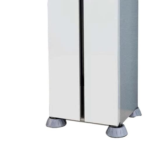ROMIDA Waschmaschine Anti-vibrations Stummschutzmatte Vibration Dämpfer waschmaschinen fußpolster Verstellbares Gummi fußpolster Anti-walk-fußpolste Für Waschmaschine & Trockner (8PC-grau)