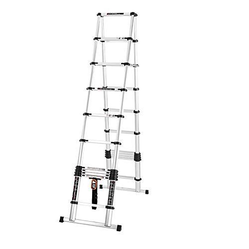 LRZLZY Verdickte Aluminiumlegierung Teleskopleiter Engineering Fischgrät-Ladder Haushaltsklapptreppe Dachboden Bambusleiter Hebe Stabilität und Sicherheit