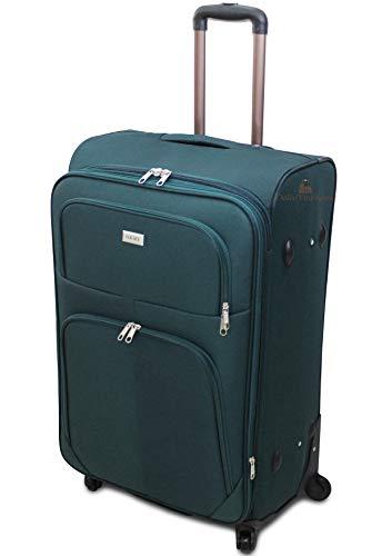 ORMI trolley bagaglio a mano da cabina piccolo medio grande extra large XXL 4 Ruote (Verde, XL (74x30x46))