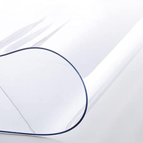 LKDF Tovaglia in PVC Trasparente, Tovaglia Quadrata da 2Mm, Tovaglia Antivegetativa/Impermeabile per Sala da Pranzo E Cucina,70x140cm/27.5x55.1in