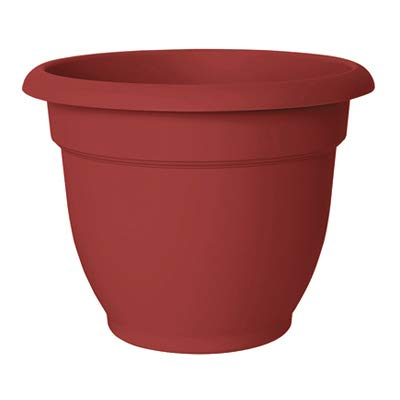 Bloem++8.5+in.+H+x+10.8+in.+Dia.+Resin++Ariana++Planter++Burnt+Red