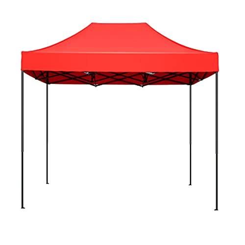 2m * 3m Cenadores Pop-up De Servicio Pesado, Refugio De Jardín para Acampar Tienda De Campaña Comercial Roja Oxford Paño Impermeable Metálico Plegable Tienda De Garaje Toldo(Size:2M*3M,Color:Rojo)