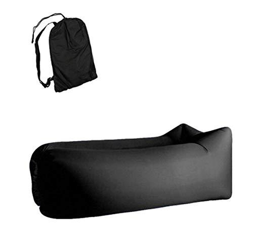 WiseGoods - Lujoso sofá hinchable, tumbona hinchable, sofá de aire, saco de aire, puf para camping, playa y exterior.