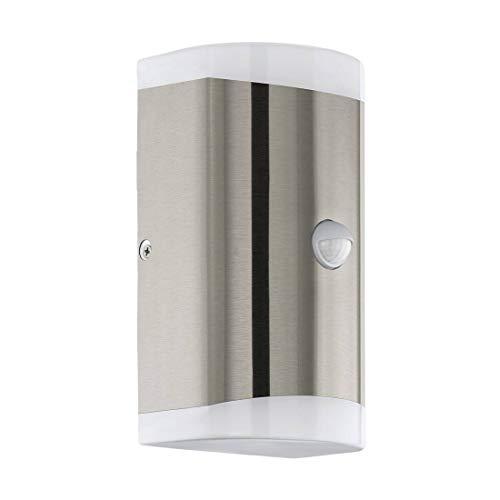 Lámpara de pared Carpinera, color blanco, 10,5 x 8,5 x 18 cm, con sensor IP44.