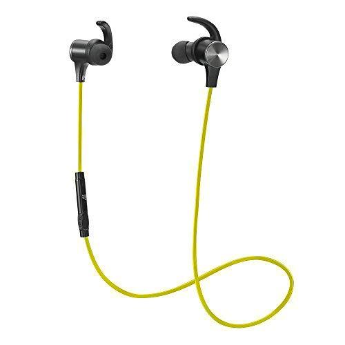 TaoTronics Bluetooth イヤホン(apt-Xコーデック対応・IPX6防水仕樣・CVC6.0) 高音質 マグネット搭載 スポーツ仕様 TT-BH07 (グリーン)