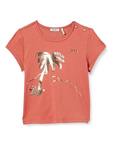 IKKS tee-Shirt bi-matière Blush imprimé palmier Camiseta, Rosa, 6 Mes para Bebés