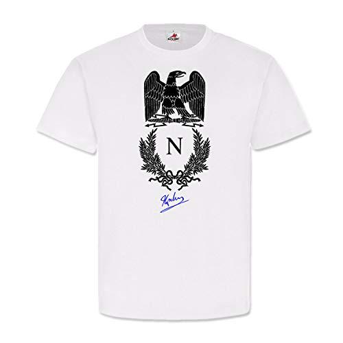 Grande Armee Napoleon Bonaparte Sello firma escudo francés Emblema águila Francia Feldherr Kaiser #22103 Blanco XXXXXL
