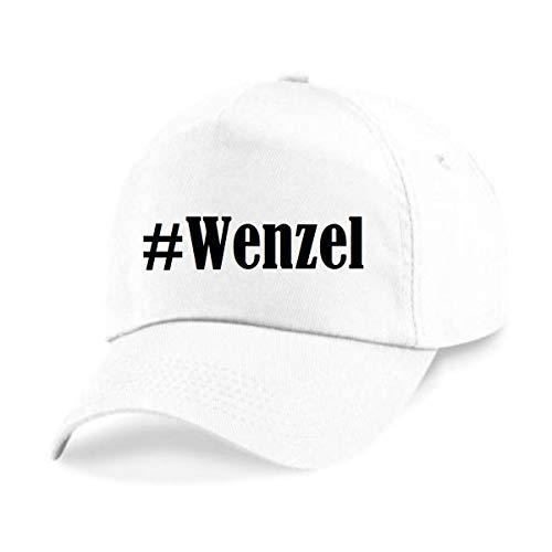 Reifen-Markt Base Cap Hashtag #Wenzel Größe Uni Farbe Weiss Druck Schwarz