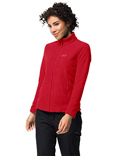 Jack Wolfskin Damen W Moonrise JKT Fleecejacke, Clear red, XL