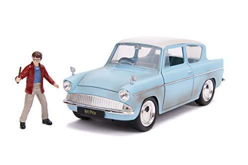 Jada Toys Set Coche Ford Anglia + Figura Harry Potter