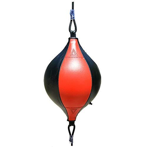 Pera Boxeo Cuero, Cuero Peras Boxeo Velocidad Rápida SpeedBag Saco Boxeo Colgante Con Inflador Conjunto Entrenamiento Entrenamiento Físico Muay Thai O Entrenamiento Deportivo Adulto Profesional Luch
