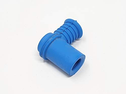 Cappuccio candela corto in silicone blu