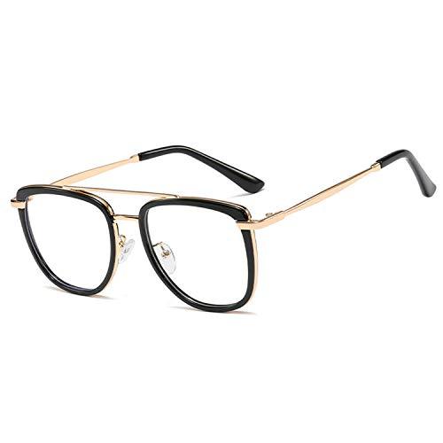 ALAKAYA Blaulichtfilter Brille - Blue Light Glasses Zum Blockieren Von UV-Kopfschmerz Retro Blaulichtfilter Brille Herren Damen Gaming Glasses (Black)